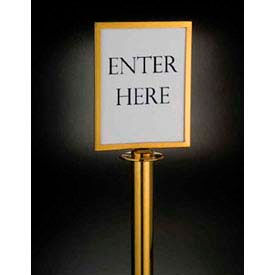 Barrier System Sign, 8-1/2x11, Gold Tone - Min Qty 3