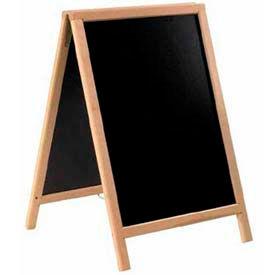 "American Metalcraft SBDB85 - Sandwich Board, 22"" x 34"", 2 Sided, Natural Wood"