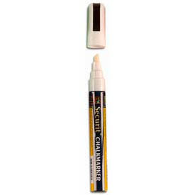 American Metalcraft SMA510V4WT - Securit Chalk Markers, Small Tip, Rain & Smear Proof, White
