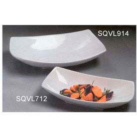 "American Metalcraft SQVL712 - Bowl, 37 Oz, 12"" x 7"" x 2-3/4"", Ceramic, White"