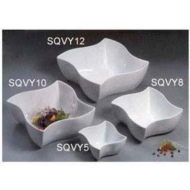 "American Metalcraft SQVY12 - Squavy Bowl, 228 Oz., 12"" Dia., Porcelain, White"