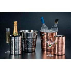 """American Metalcraft SW4C - Wine Cooler, 4-3/4""""D x 7-1/4""""H, Copper Plated, Hammered Finish"""