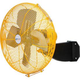 "Airmaster Fan 24"" Beam Mount Yellow Safety Fan - 2 Speed Pull Chain Switch 10204K 1/3 HP 5280 CFM"