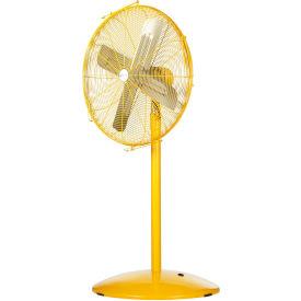 Airmaster Fan Dj Pf30 2sph 30 Inch Pedestal Fan Yellow 1 3 Hp 6915 Cfm Non Oscillating