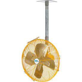 "Airmaster Fan 30"" Ceiling/Bench Mount Yellow Safety Fan - Drop Cord Switch 10739K 1/3 HP 6915 CFM"