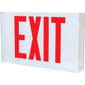 Lithonia Lighting L X W 3 R EL N Emergency Exit Sign, White