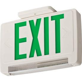 Lithonia Lighting ECBG LED M6 LED Integrated Exit-Unit Combo, White W/Green Letters