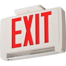 Lithonia ECBR LED M6 LED Integrated Exit-Unit Combo, White W/Red Letters