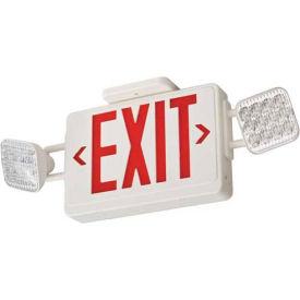 Lithonia ECR LED M6 Red Emergency Combo Exit / Unit with LED Heads