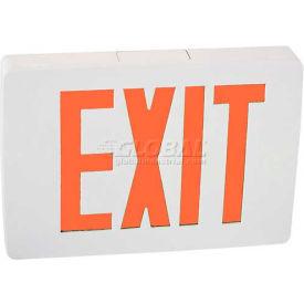 Lithonia LQC W 1 R EL N Quantum White/Red Exit w/ Battery