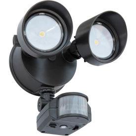 Lithonia Lighting OLF 2RH 40K 120 MO BZ M6, LED Flood Light, Motion Sensor, 2-Head 4000K, Bronze