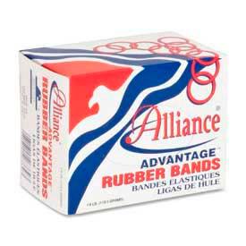 "Alliance Advantage Rubber Bands, Size # 18, 3"" x 1/16"", Natural, 1/4 lb. Box by"