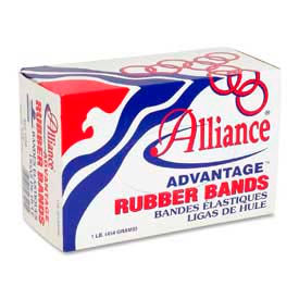 "Alliance Advantage Rubber Bands, Size # 33, 3-1/2"" x 1/8"", Natural, 1 lb. Box by"
