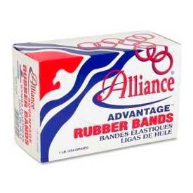 "Alliance Advantage Rubber Bands, Size # 107, 7"" x 5/8"", Natural, 1 lb. Box by"