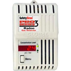 Family Safety Products Safety Siren Pro Series 3 Radon Gas Detectors, Monitors Radon Gas Levels