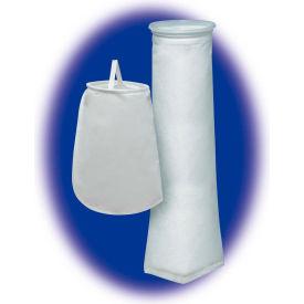 """Sewn Liquid Bag Filter, Nomex Felt, 4-1/8""""Dia. X 14""""L, 1 Micron, Steel Ring-Pkg Qty 50 - Pkg Qty 50"""