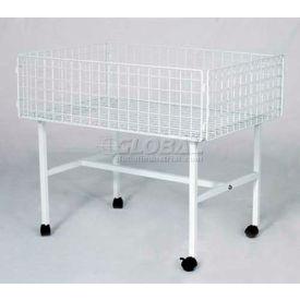 "Folding Dump Table, 28"" L x 40"" W x 30"" H, W/ Casters, Metal, Chrome"
