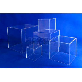 """Acrylic 5 Sided Cubes, 8"""" x 8"""" x 8"""", 3/16"""" Thickness, Clear"""