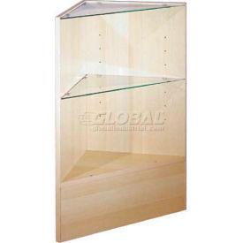 Triangle Corner With Glass, Maple
