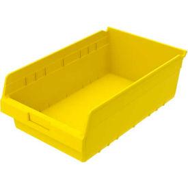 "Akro-Mils ShelfMax® Plastic Shelf Bin Nestable 30018 - 11-1/8""W x 17-7/8""D x 6""H, Yellow - Pkg Qty 8"