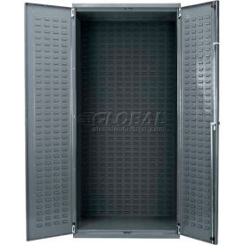 """Akro-Mils AC3624 Steel Cabinet w/Louvers On Back And Doors, No Bins, Assembled, 36x24x78"""" Gray"""