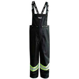 Viking® Journeyman FR Professional Trilobal Rip-Stop Bib Pants, Black, XL