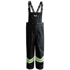Viking® Journeyman FR Professional Trilobal Rip-Stop Bib Pants, Black, 2XL