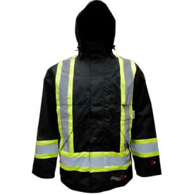Viking® Journeyman FR Professional Trilobal Rip-Stop Jacket W/Hi-Vis Safety Striping, M