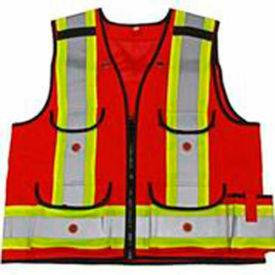 Viking® 4915R Hi-Vis All-Trades 1000D Safety Vest, Red, M