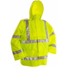 Viking® D6323JG Open Road Hi-Vis 150D Rip-Stop Safety Jacket, Green, XL