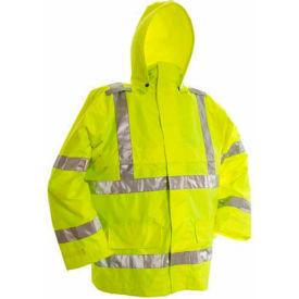 Viking® D6323JG Open Road Hi-Vis 150D Rip-Stop Safety Jacket, Green, XL