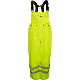 Viking® D6329PG Professional Journeyman Hi-Vis 300D Trilobal Safety Bib Pants, Green, XL