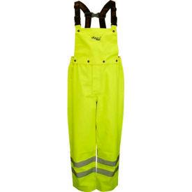 Viking® D6329PG Professional Journeyman Hi-Vis 300D Trilobal Safety Bib Pants, Green, 2XL