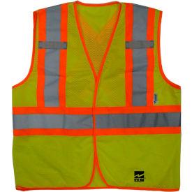 Viking® U6110G Hi-Vis Open Road BTE Safety Vest, Fluorescent Green, L/XL