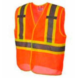Viking® U6110O Hi-Vis Open Road BTE Safety Vest, Orange, 2XL/3XL