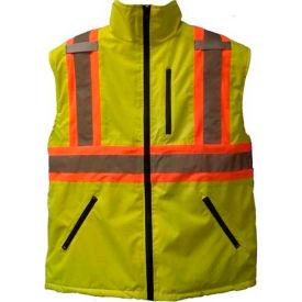 Viking® U6205G Hi-Vis Fleece Lined Safety Vest, Green, S
