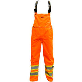 Viking® U6400PO Journeyman 300D Insulated Detachable Bib Pants, Orange, L