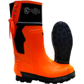Viking Class 2 Chainsaw Boots, Orange/Black, Size 9 by