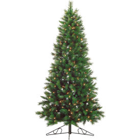 Fraser Hill Farm Artificial Christmas Tree - 7.5 Ft. Canyon Pine - Clear Lights