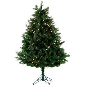 Fraser Hill Farm Artificial Christmas Tree - 5 Ft. Northern Cedar Teardrop - Clear LED Lights