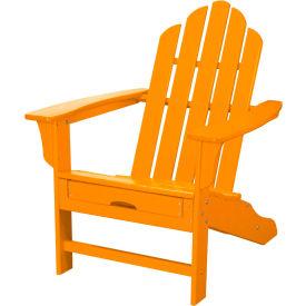 Hanover All-Weather Contoured Adirondack Chair w/ Hideaway Ottoman, Tangerine