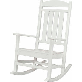 Hanover All-Weather Pineapple Cay Porch Rocker, White