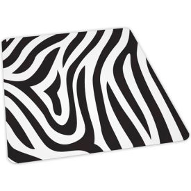 Aleco® Zebra Design Hard Floor Office Chair Mat 46 x 60 Rectangle, Crystal Edge