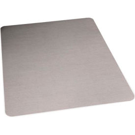 Aleco® Brushed Stainless Laminate Office Chair Mat, Hard Floor 36 x 48 Rectangle, Straight Edge