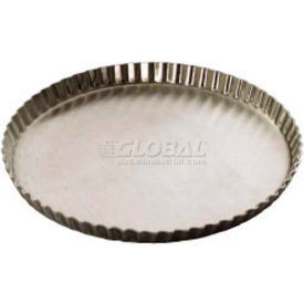 """Allied Metal Spinning BDLF13 - Quiche/Tart Pan, 12"""" Top OD x 11/16"""", Beadless, Fluted, Tapered"""