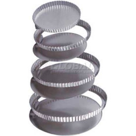 """Allied Metal Spinning CCPSETF8X1 - Cake Set, 8"""" x 1"""", With Removable Bottom, Straight Side, Fluted"""