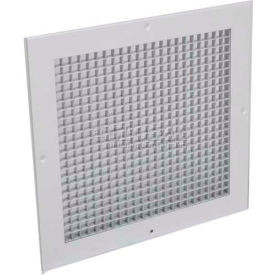"""American Louver Eggcrate Return Grille 1/2"""" Cubed Core, 22"""" x 22"""", White"""