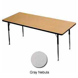 "Activity Table, 24"" X 60"", Rectangle, Juvenile Adj. Height, Gray Nebula"