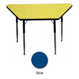 "Activity Table, 24"" x 24"" x 48"", Trapezoid, ADA Compliant Adj. Height, Blue"