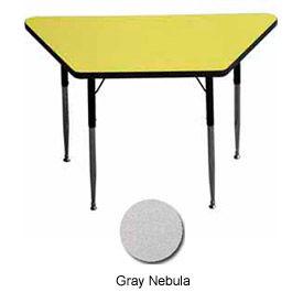 "Activity Table - Trapezoid - 24"" X 24"" X 48"", Standard Adj. Height, Gray Nebula"